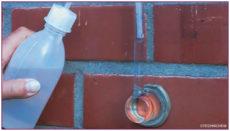 Hydrofuge facade, méthode à la pipe de verre